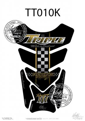 Picture of Tank Pad Triumph Style Speed Street Triple Motografix, Approx. Size H=21cm/W=15cm