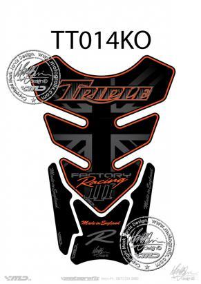 Picture of Tank Pad Triumph Style Speed Triple R Motografix , Approx. Size H=21cm/W=15cm