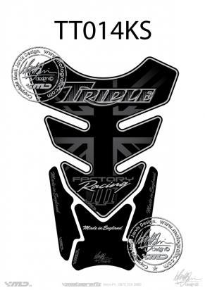 Picture of Tank Pad Triumph Style Speed Triple R Motografix, Approx. Size H=21cm/W=15cm