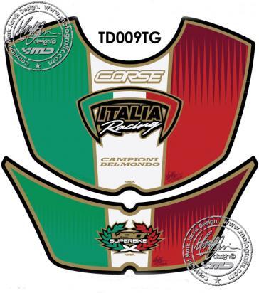 Picture of Tank Pad Ducati Style 749 999 Italia Motografix, Approx. Size H=21cm/W=21cm