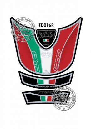 Picture of Tank Pad Ducati Style Multistrada 1200 Motografix, Approx. Size H=20cm/W=17cm