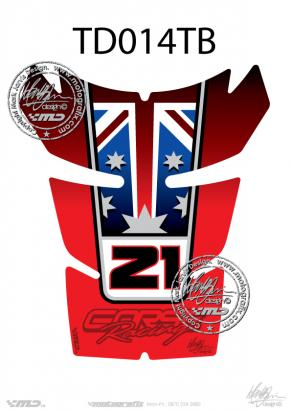 Picture of Tank Pad Ducati Style 848 1098 1198 Troy Bayliss Replica Motografix, Approx. Size H=20cm/W=17cm