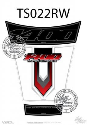 Picture of Tank Pad Suzuki Style GSX1400 Motografix Approx. Size H=20cm/L=16cm