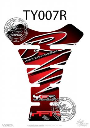 Picture of Tank Pad Yamaha Style R1 R6 YZF Motografix, Approx. Size H=22cm/W=17cm