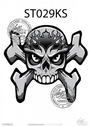 Picture of Tank Pad Streetfighter Skull anTank Pad Streetfighter Skull and Crossbones Tankpad, Approx. Size H=17cm, L=17cm