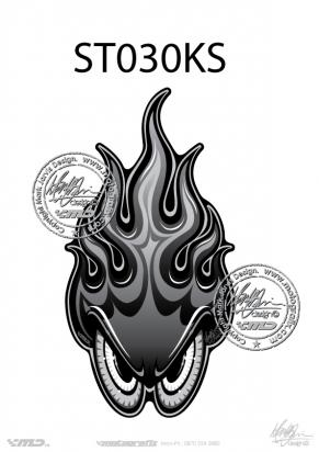 Picture of Tank Pad Streetfighter Tank Pad Streetfighter Skull and Flames Tankpad, Approx. Size H=17cm, L=17cm
