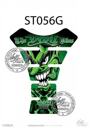 Picture of Tank Pad Streetfighter THE DEVIL RIDES GREEN