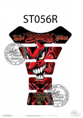 Picture of Tank Pad Streetfighter THE DEVIL RIDES RED H=22cm/W=17cm