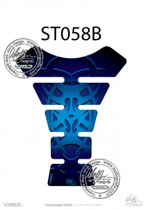 Picture of Tank Pad Streetfighter TRIBAL BLUE, H=22cm/W=17cm