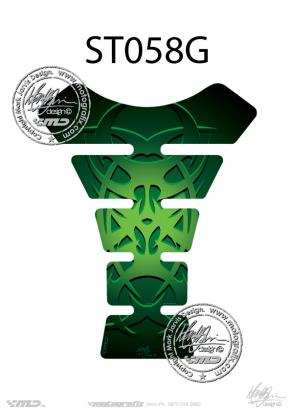 Picture of Tank Pad Streetfighter TRIBAL GREEN, H=22cm/W=17cm