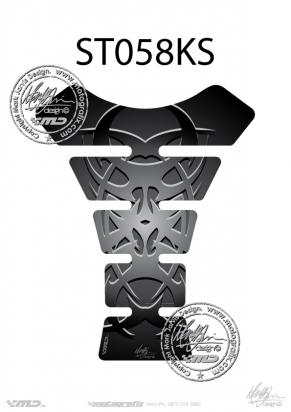 Picture of Tank Pad Streetfighter TRIBAL SILVER/BLACK, H=22cm/W=17cm