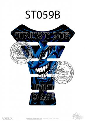 Picture of Tank Pad Streetfighter TRUST ME BLUE, H=22cm/W=17cm