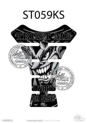 Picture of Tank Pad Streetfighter TRUST ME BLACK/SILVER, H=22cm/W=17cm