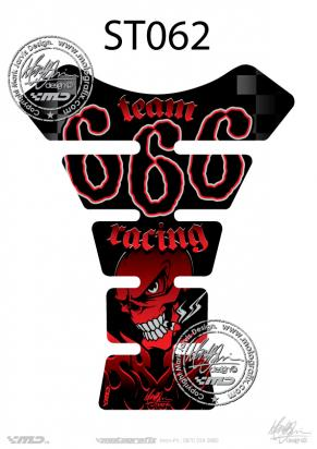Picture of Tank Pad Streetfighter TEAM 666 RACING H=22cm/W=17cm