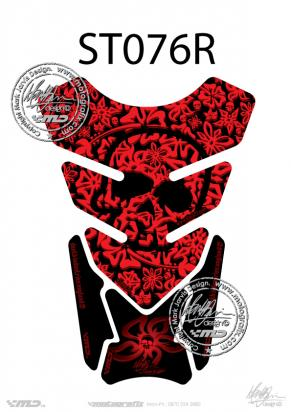 Picture of Tank Pad Streetfighter Skull Flower Quadrapad H=21cm/W=15cm