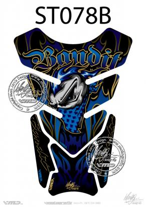 Picture of Tank Pad Streetfighter Bandit Blue H=21cm/W=15cm