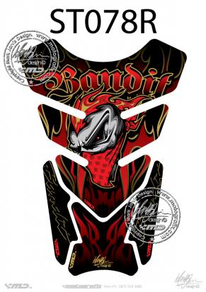 Picture of Tank Pad Streetfighter Bandit Red H=21cm/W=15cm