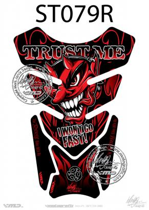Picture of Tank Pad Streetfighter Trust Me I Wont Go Fast - Red H=21cm/W=15cm