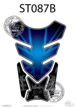 Picture of Tank Pad Streetfighter UNION JACK DESIGN BLUE H=21cm/W=15cm