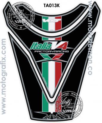 Picture of Aprilia Style RSV 4 R 09-11 Tuono Motografix TA013K Tankpad, Approx. Size H=24cm/W=18cm