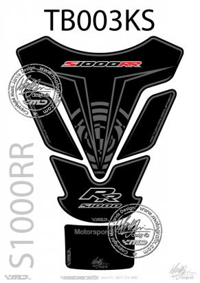 Picture of BMW S1000RR Black / Silver Tankpad 09-11, Approx. Size H=25cm/W=18cm
