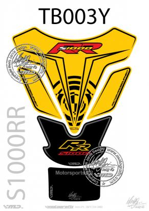 Picture of BMW S1000RR Yellow Tankpad 09-11, Approx. Size H=25cm/W=18cm