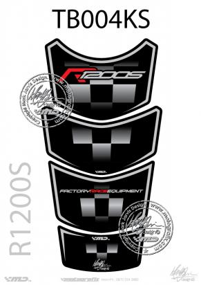 Picture of BMW R1200S Tankpad Black / Silver, Approx. Size H=27cm/W=14cm