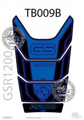 Picture of BMW GS R1200 Motorsports Blue Tankpad, Approx. Size H=28cm/W=18cm