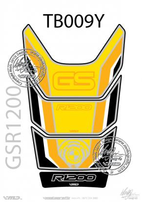 Picture of BMW GS R1200 Motorsports Yellow Tankpad, Approx. Size H=28cm/W=18cm