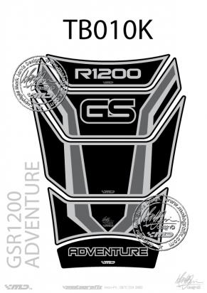 Picture of BMW GS R1200 Adventure 30th Anniversary Black and Silver Tankpad