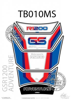 Picture of BMW GS R1200 Adventure 30th Anniversary Red White And Blue Tankpad