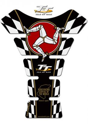 Picture of Tank Pad Isle of Man TT  Races Official Licensed Black 3D Gel Approx. Size H=22cm/W=17cm