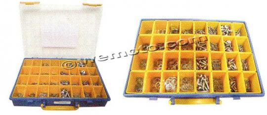 Picture of Parts Tray - Screws Self Taper and External and Internal Circlip Kit 640pc Stainless Steel