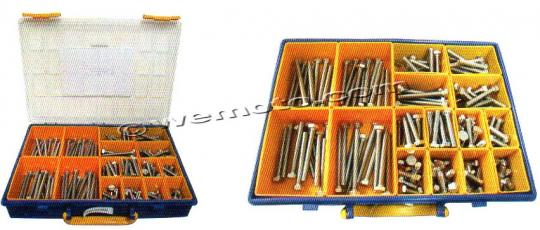 Picture of Parts Tray - Bolt Hexagon Kit M8 Assorted Length 160 pc Stainless Steel
