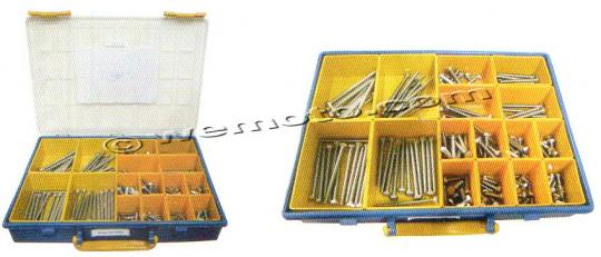 Parts Tray -  Bolt Hexagon Kit M6 Assorted Length 160pc Stainless Steel