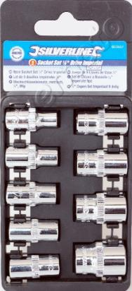 Picture of 9 Piece Socket Set 1/4 inch drive Imperial