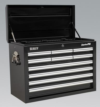Picture of Sealey Topchest 10 Drawer with Ball Bearing Runners - Black