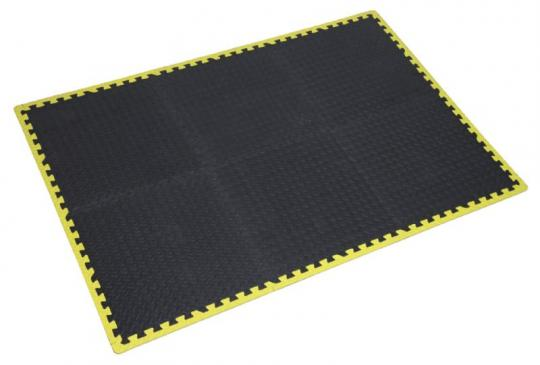 Picture of Sealey Interlocking Comfort Workshop Mat Set 1240 x 1825mm with Hi-Vis Edges
