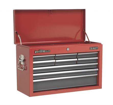 Picture of Sealey Topchest 9 Drawer with Ball Bearing Runners - Red/Grey