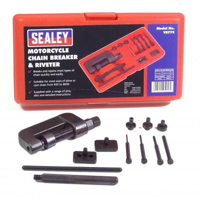 A Sealey Chain Breaker And Riveting Tool For Up To 530 Chains