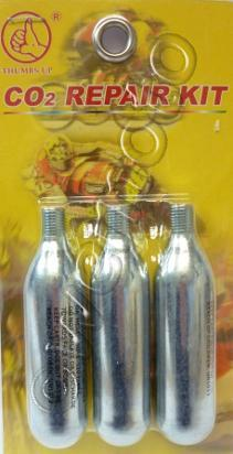 Picture of Tyre Tubeless Puncture Repair Kit CO2 Refill  - 3 Canisters