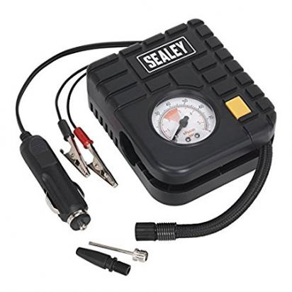 Picture of Sealey Micro Air Compressor with Work Light 12V