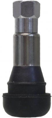 Picture of Tubeless Wheel Valve Rubber Chrome 10mm