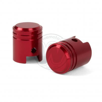 Picture of Valve Caps - Pair Piston Red