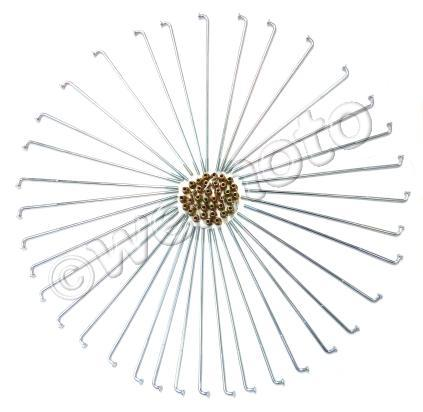 Picture of Spokes and Nipple Set - OD 3.2mm x 172mm - 36 Pieces