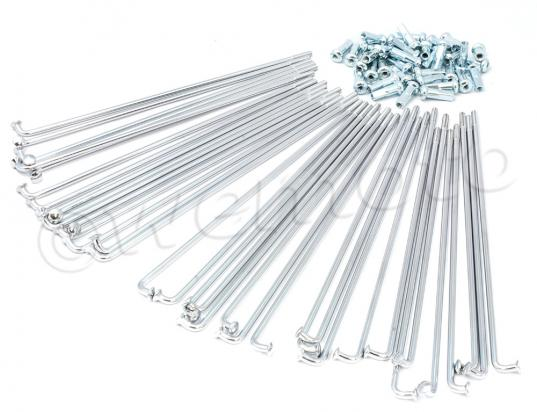 Picture of Spokes and Nipple Set - OD 4mm x 163mm - 36 Pieces