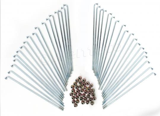 Picture of Spokes and Nipple Set - OD 3.2mm x 157mm - 36 Pieces