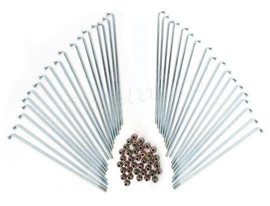 Picture of Spokes and Nipple Set - OD 3.2mm x 163mm - 36 Pieces