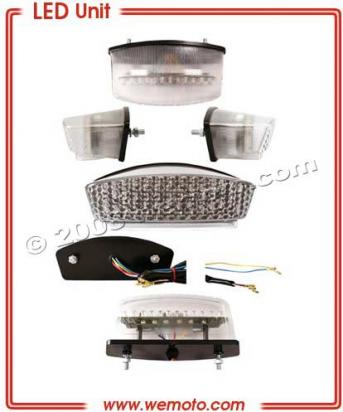 Picture of Taillight White/Clear Lens LED Unit - Alternative