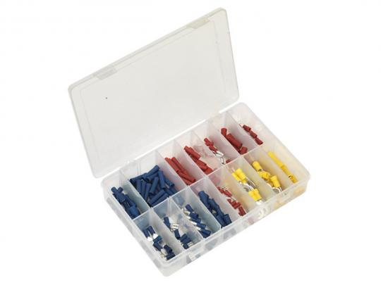 Parts Tray - Crimp Terminal Assortment 200pc  Blue, Red & Yellow